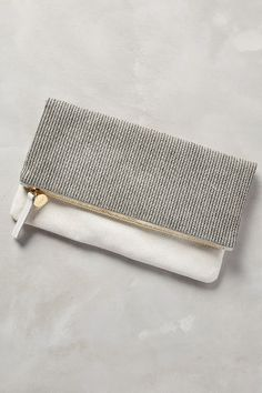 Clare V Miles Pouch - anthropologie.com #silver #accessories