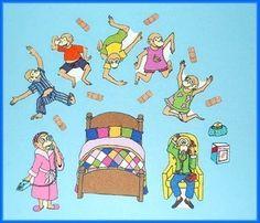 5 Little Monkeys Jumping on the Bed Felt / Flannel Board Set