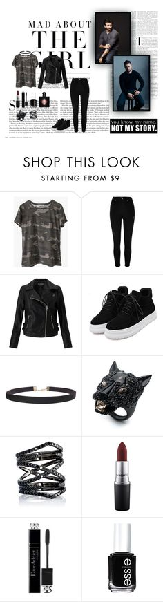 """""""Mad About The Girl"""" by xo-nataliiee-xo ❤ liked on Polyvore featuring Kershaw, Ragdoll, River Island, Miss Selfridge, Humble Chic, Alexis Bittar, Eva Fehren, MAC Cosmetics, Christian Dior and Essie"""