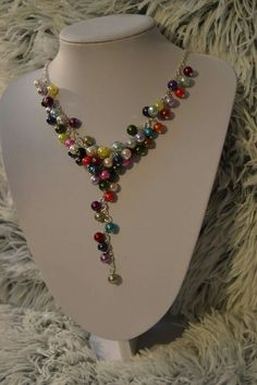 Multicolor necklace handmade jewelry