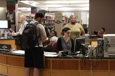 Find the help you need at Access Services, located on the second floor of Mitchell Memorial Library.