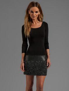 REVOLVE - Bailey 44 Allegory Long Sleeve Dress In Black/Gray