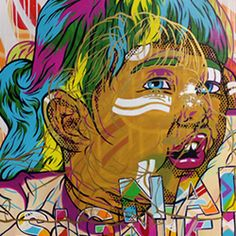"""Awesome street art style paintings created by the American artist James """"DrZ"""" Zdaniewski."""
