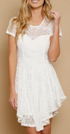 Kehole Back Lace Skater Dress