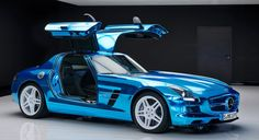 Mercedes-Benz – The gull-wing SLS AMG Electric is on track to be the only EV supercar out of Germany.  #EV
