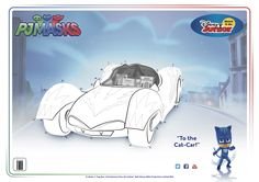 To the Cat-Car! #catboy #pjmasks #activitysheet #connectthedots #disneyjunior