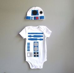Star Wars R2D2 baby onesie and hat by The Wishing Elephant #maythe4thbewithyou