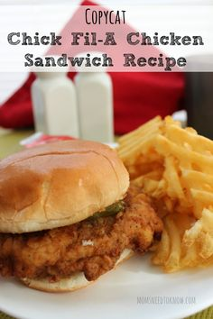 Copycat Chick Fil A Chicken Sandwich Recipe - there is a secret to the distinctive taste of their chicken and I have it!