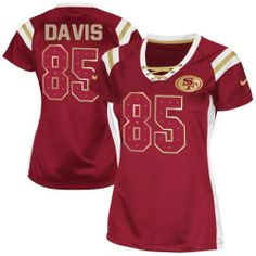 Vernon Davis Elite Nike Vernon Davis Elite Jersey at Shop. (Elite Nike  Women s Vernon Davis Red Jersey) San Francisco NFL Draft Him Shimmer Easy  Returns. e78ba92e9