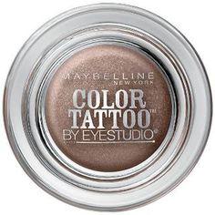 Maybelline New York Eye Studio Color Tattoo Metal 24 Hour Cream Gel Eyeshadow Maybelline Color Tattoo, Maybelline Mascara, Gel Eyeliner, Gel Eyeshadow, Cream Eyeshadow, Bronze Eyeshadow, Everyday Eyeshadow, Drugstore Makeup, Makeup Tips