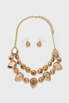 Shimmering Copper Necklace