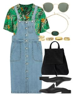 """Untitled #5685"" by rachellouisewilliamson ❤ liked on Polyvore featuring Topshop, Chicnova Fashion, Iris & Ink, Ray-Ban and Charlotte Russe"