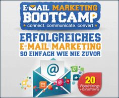 Das E-Mail-Marketing Bootcamp - Online Weiterbildung zum Thema E-Mail-Marketing.