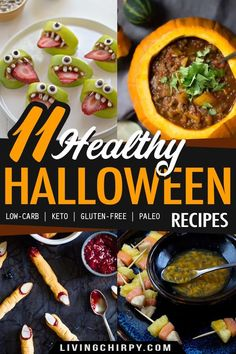 How to have a healthy Halloween? Find out in this post featuring 11 Healthy Halloween Recipes that'll keep the spooky vibes alive without sacrificing your nutrition! Easy and fun recipes! #recipe #keto #ketorecipes #ketodietrecipes #ketodietforbeginners #ketorecipeseasy #ketorecipesdinner #lowcarbrecipes #lowcarbdinner #easyrecipe #easydinnerideas #easydinnerrecipes #glutenfree #glutenfreerecipes #easylowcarbrecipes Paleo Recipes Easy, Fall Recipes, Low Carb Recipes, Holiday Recipes, Dinner Recipes, Keto Holiday, Brunch Recipes, Breakfast Recipes, Vegetarian Recipes