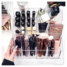 $15 makeup storage? Don't mind if I do! ?? picked up this baby from Ikea on the weekend and it holds all of my faves ?? -- Continue with the details at the image link. #MakeupTips