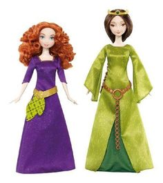 Disney-Pixar-Brave-Merida-Queen-Elinor-Doll-2-Pack-X5322-CO-MATTEL-INC