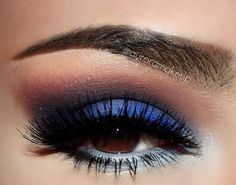 Stunning blue eyeshadow, makeup