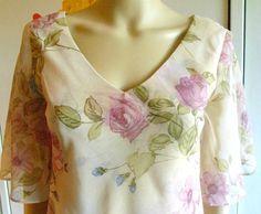 Vintage 1980s Tea Dress Maxi Dress Peach With by VaylaRoseVintage