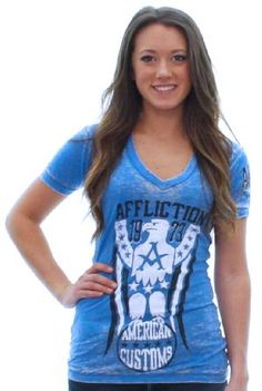 Affliction Freedom Ring Women's T-Shirt Tee V Neck (Click The Image To Buy It)