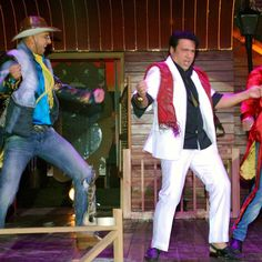 Bollywood actors Govinda,Parineeti Chopra,Ranveer Singh and Ali Zafar during music launch of their up coming movie Kill Dil! #Bollywood #KillDill #RanveerSingh #Govinda