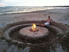 I'm hoping someone can run down to the beach and make this before we get there. ;)