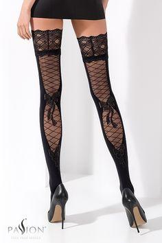 Noir Industrial Net garter belt bas avec Bordure en Satin résille porte-jarretelles Collants