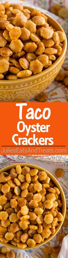 Oyster Crackers Recipe ~ Quick, Easy Snack Mix Recipe that's Got a Kick to it! No One Will Be Able to Stop Munching on These!Taco Oyster Crackers Recipe ~ Quick, Easy Snack Mix Recipe that's Got a Kick to it! No One Will Be Able to Stop Munching on These! Snack Mix Recipes, Mexican Food Recipes, Appetizer Recipes, Appetizers, Cooking Recipes, Snack Mixes, Easy Recipes, Mexican Snacks, Aloo Recipes