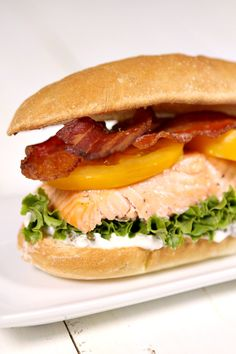 Salmon BLT Sandwiches Recipe