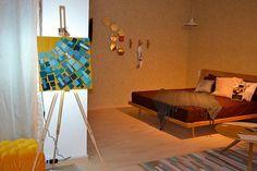 LED Wooden Mosaic 3D wall lamp wooden art 3d wooden