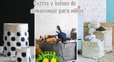 Cestos y bolsas de almacenaje para niños