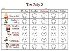 First Grade Dual: The Daily 5- use this to have kids keep up with what groups they have been to.