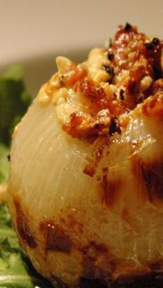 Grilled Blue Cheese and Bacon Stuffed Onions
