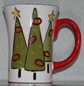 Christmas pottery mug