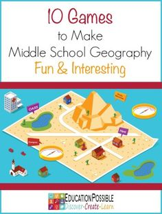 Games to Make Middle School Geography Fun & Interesting - Education Possible We know students of all ages benefit by adding hands-on learning activities to their geography studies. During the middle school years kids also enjoy exploring fun facts and trivia — games are a fun and effective tool to aid in this type of learning. Games can help students remember important geography information such as locations, flags, capitals, famous landmarks, population, cultural etiquette, and more.