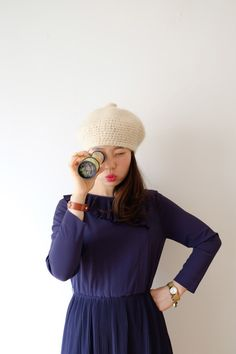 Girleats pleats Japanese vintage dress xs  s by kamomeya on Etsy