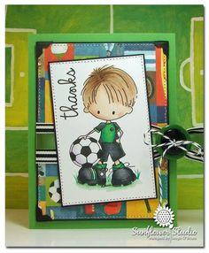 Cute boy card.