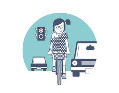 """Check out this @Behance project: """"Bicycle Icons"""" https://www.behance.net/gallery/12156033/Bicycle-Icons"""