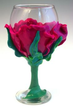 polyclay wine glasses - Google Search