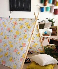 DIY A Frame tent tutorial- awesome for summery photo sessions. Grosgrain: Free Pattern Month Day 11 - Cakies: The A-Frame Tent A Frame Tent, Diy Frame, Diy Pour Enfants, Kids Tents, Play Tents, My New Room, Cool Diy, Fun Diy, Play Houses