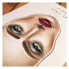 Inspired by the AW16 season the #myface by #mykitco #facechart celebrates velvet #lips and sculpted eyes.  #makeup #makeupartist #beauty #aw16 #makeupbrush #makeupkit #makeupart
