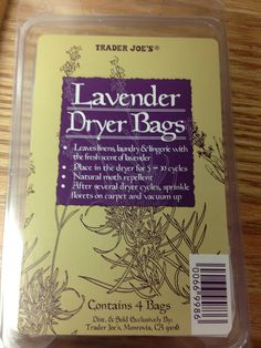 Trader Joe's Lavender dryer bags!! These are the best!!!!