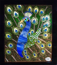 Mosaic Peacock Window