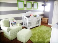 green, grey, and white... I think that will be the color scheme for the nursery. :)