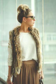 20 начини како да носите вештачко крзно во зима - CRNOBELO.com