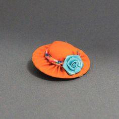 Guinea Pig Hat (Orange/Blue Rose), $3.50