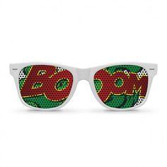 BOOM White Wayfarer Sunglasses by Eyepster