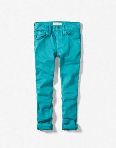 Zara boys twill skinny in turquoise & oil green are this season's must haves!