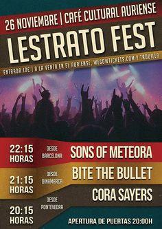 LESTRATO FEST se celebra este sábado y cuenta con bandas nacionales e internacionales como Sons Of Meteora, Cora Sayers y Bite The Bullet