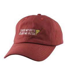 Chill Hat Pizza Butt Maroon/Maroon Slouch Strapback - Bespoke Cut and Sew - 1