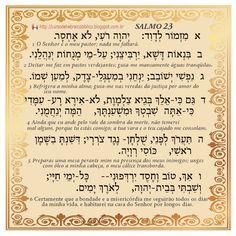 Salmo 23 em Hebraico Bíblico com Tradução